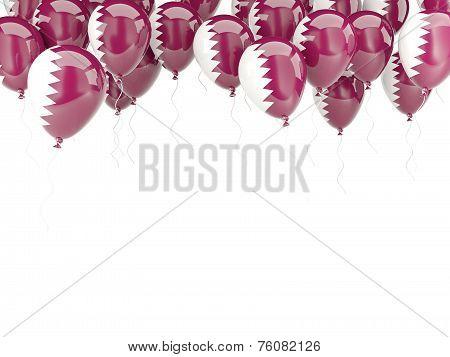 Balloon Frame With Flag Of Qatar