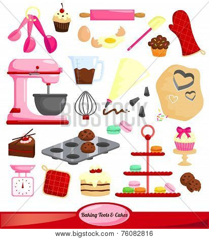 baking vector set