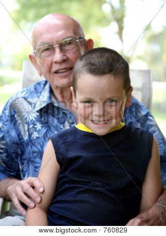 Grandkid With Grandpa
