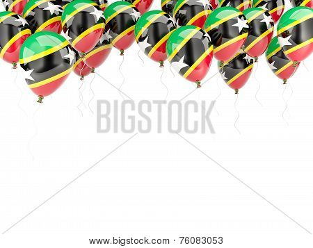 Balloon Frame With Flag Of Saint Kitts And Nevis