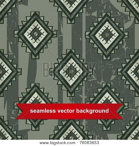 Seamless vector tribal background. Vector illustration. Seamless