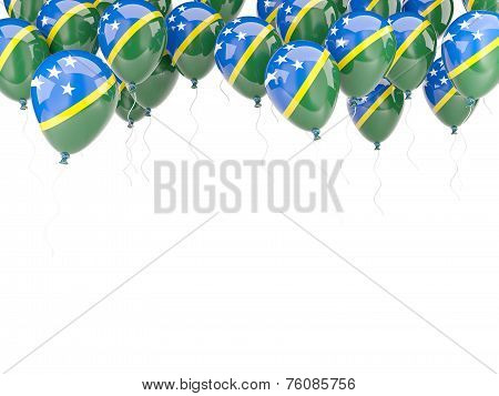 Balloon Frame With Flag Of Solomon Islands