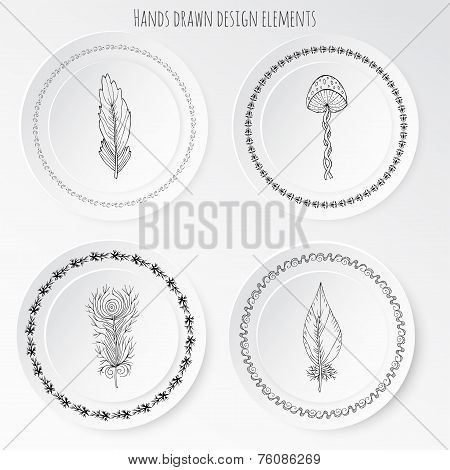 Hands Drawn Design Elements Vector