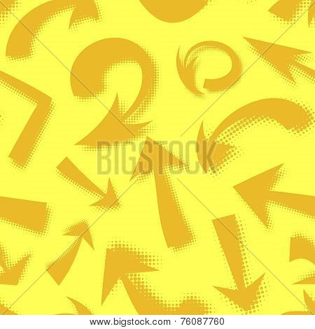 Vector seamless pattern of hand drawn comics arrows