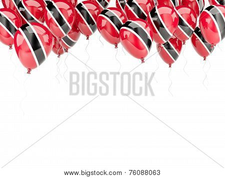 Balloon Frame With Flag Of Trinidad And Tobago