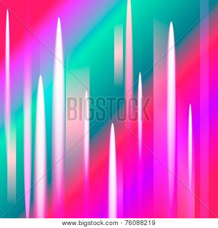 Abstract northern lights background with light peaks