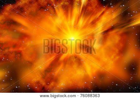Universe Space Star Explosion Nebula