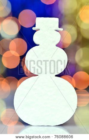 christmas symbols on bokeh background