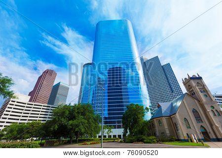 Houston downtown Smith St cityscape skyline Texas US USA