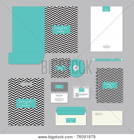 Stationary template design. Corporate identity business set.