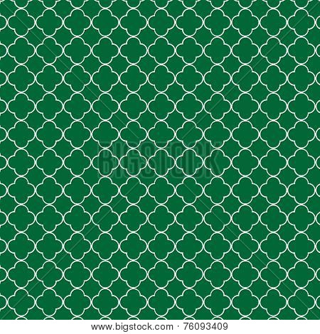 Green Quatrefoil Pattern