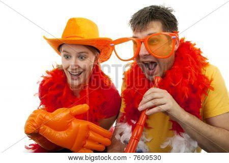Two Dutch Soccer Fans