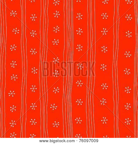 Seamless pattern. Christmas ornament with snowflake. Holiday background
