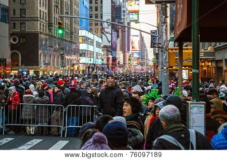 Crowds Gathering New Years Eve
