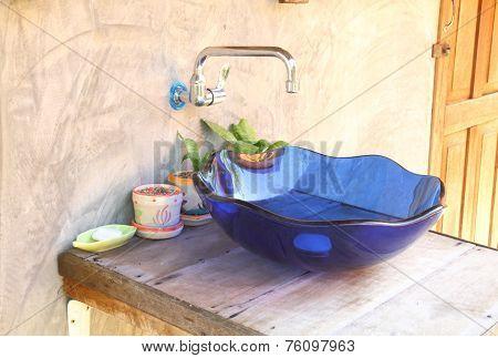 Blue Hand Basin