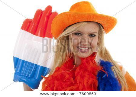 Female Dutch Soccer Fan