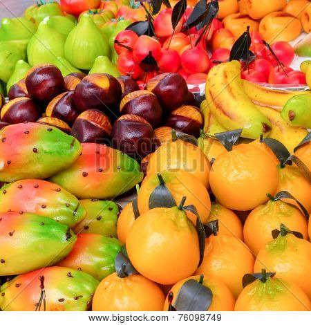 Marzipan fruit shaped pastry