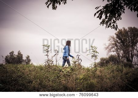 Sad Picture Of A Woman Walking Away