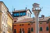 picture of vicenza  - The column with the Lion of Saint Mark in Lords - JPG