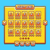 ������, ������: Yellow game menu level interface ui panels