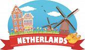 stock photo of windmills  - Netherlands - JPG