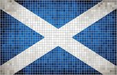 picture of william wallace  - Scottish flags, The National flag of Scotland, Abstract - grunge mosaic vector. - JPG