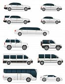 picture of bus driver  - set of cars for the transportation passengers vector illustration isolated on white background - JPG