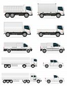 image of car symbol  - set of icons cars and truck for transportation cargo vector illustration isolated on white background - JPG