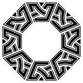 pic of octagon  - ornamental octagon celtic frame - JPG
