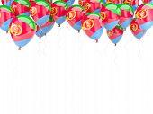 stock photo of eritrea  - Balloon frame with flag of eritrea isolated on white - JPG