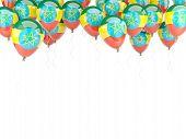 stock photo of ethiopia  - Balloon frame with flag of ethiopia isolated on white - JPG