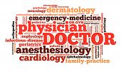 picture of anesthesiology  - Word cloud illustrating the specialities of doctor - JPG