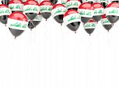 foto of iraq  - Balloon frame with flag of iraq isolated on white - JPG