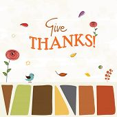 stock photo of give thanks  - Thanksgiving Day celebration concept with stylish text Give Thanks - JPG