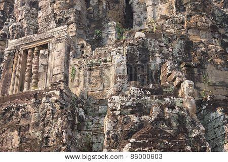 Ancient Temple Ruins Closeup