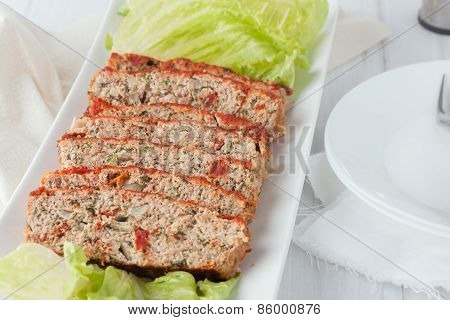 Sliced Turkey Meatloaf