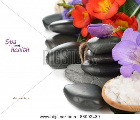 Stones And Flower