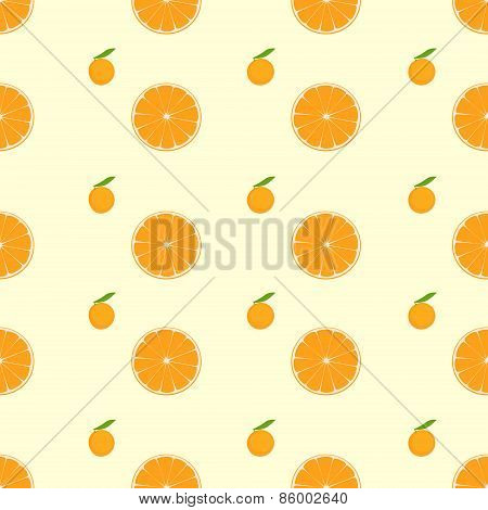 orange citrus fruit slice seamless pattern vector