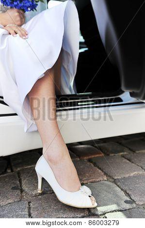 Foot  In  White Shoe