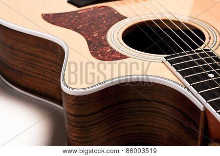 Guitar On White