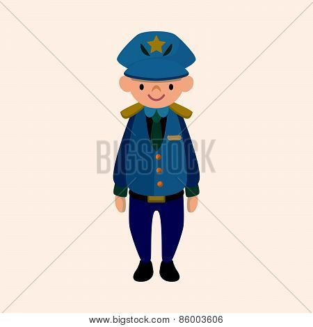 Policeman Theme Elements Vector,eps