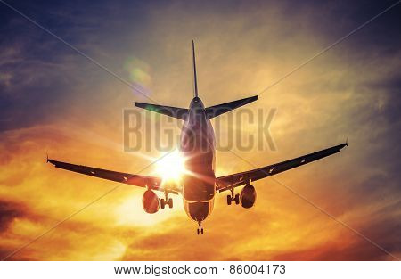 Airplane And The Sun
