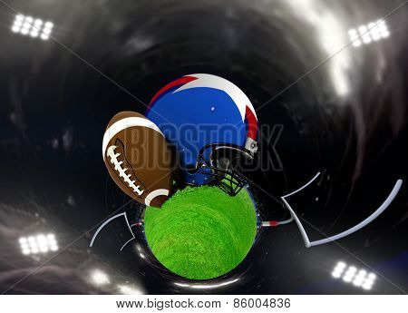 Abstract American Football In A Stadium