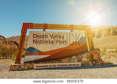 Death Valley Entrance Sign