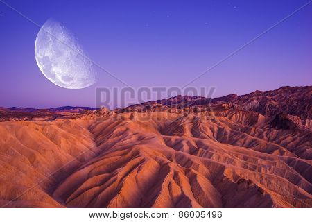 Death Valley Moon Night