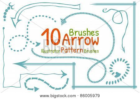 Vector brushes set with arrows