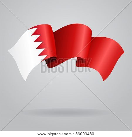 Bahrain waving Flag. Vector illustration