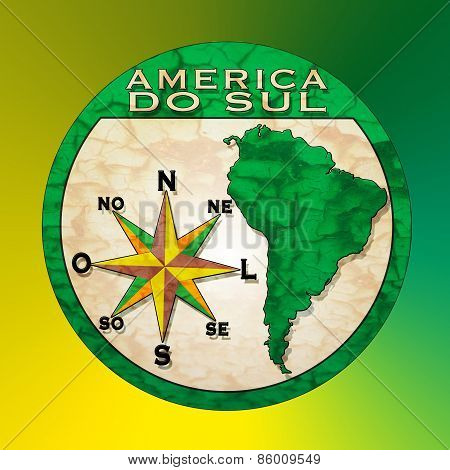 America Do Sul Stamp