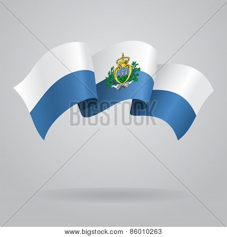 San Marino waving Flag. Vector illustration