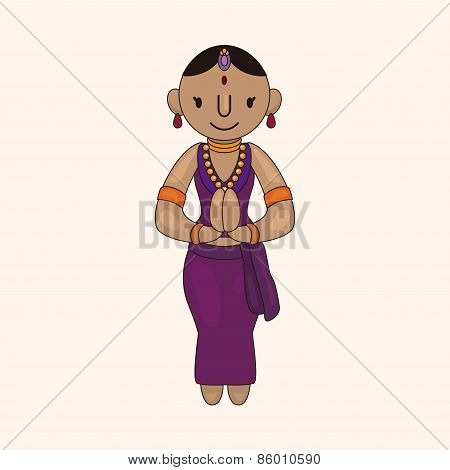 Indian People Theme Elements Vector,eps